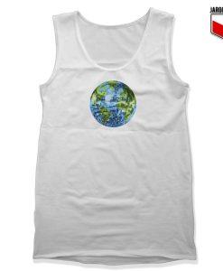 Galactic Disco Ball Planet Earth White Tank Top 247x300 - Shop Unique Graphic Cool Shirt Designs