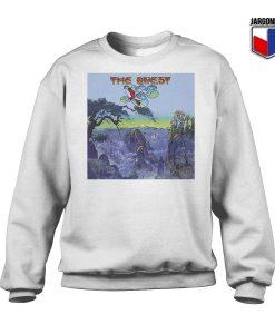 Yes The Quest White Sweatshirt 247x300 - Shop Unique Graphic Cool Shirt Designs