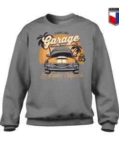 Classic Cars Malibu Beach Grey Sweatshirt 247x300 - Shop Unique Graphic Cool Shirt Designs