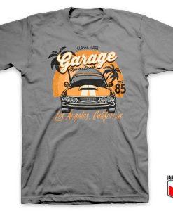 Classic Cars Malibu Beach T Shirt