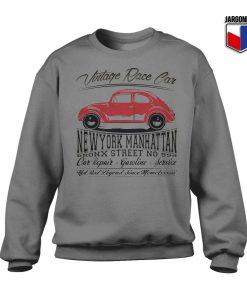 Vintage Race Car Grey Sweatshirt 247x300 - Shop Unique Graphic Cool Shirt Designs