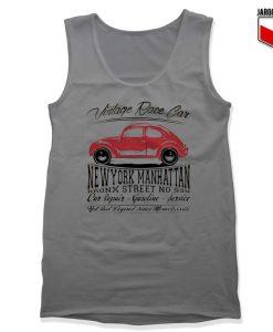 Vintage Race Car Grey Tank Top 247x300 - Shop Unique Graphic Cool Shirt Designs